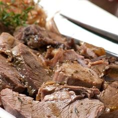 Slow roast leg of lamb from Ina Paarman's kitchen. Melt in the mouth tender with delicious flavour. Lamb Chop Recipes, Meat Recipes, Real Food Recipes, Cooking Recipes, Recipies, Slow Roast Lamb, Slow Cooker Roast, Healthy Family Meals, Healthy Snacks
