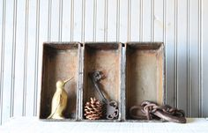 Large Bread Pan // Industrial Storage by buffalowinter on Etsy, $38.00
