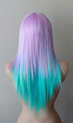hmm. I'm wondering if the mermaids should have cool colored hair like this. hm