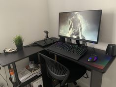 Build a better desktop. We inspire you to create your very own computer setup, workstation and battlestation. Best Pc Gaming Setup, Good Gaming Desk, Computer Desk Setup, Gaming Room Setup, Pc Setup, Gaming Computer, Cool Desktop, Game Room, Computers