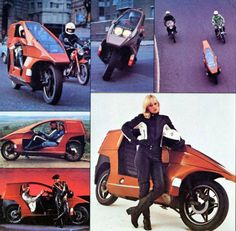 Straight from the 70′s… the future of motorcycling… the Quasar!