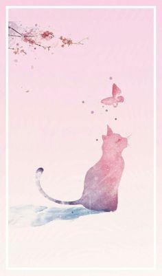 Cat Phone Wallpaper, Cute Cat Wallpaper, Butterfly Wallpaper, Scenery Wallpaper, Kawaii Wallpaper, Cute Wallpaper Backgrounds, Animal Wallpaper, Cartoon Wallpaper, Cute Wallpapers
