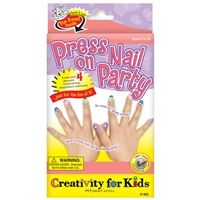 Press on nail party kit by Creativity for Kids®. Package includes 4 sets of press on nails and stickers.
