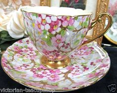 Shelley Tea cup and Saucer Maytime Chintz Pattern