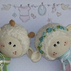 Spring Lamb and Sheep crochet patterns by Julio Toys (available only on Etsy)
