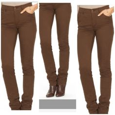 """Ralph Lauren High Rise Jeans first photo is a cover photo showing model wearing jeans. Jeans are High Rise. The color is brown. Size 8 Short. 100% Cotton. 5 Pocket. Inseam 27.5. Rise """"11.5. Length """"38.5. Laying flat from one end of Jeans to the other is """"13.5. The first photo is a stock photo of model in this style of Jean. This item is in Good condition, Authentic and from a Smoke And Pet free home. All Offers through the offer button ONLY. I Will not negotiate Price in the comment section…"""