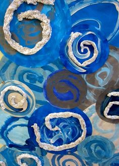 spirales gouache et aluminium