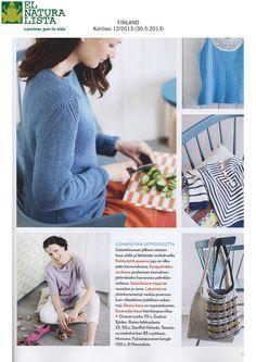 Kotiliesi - lehden 12:ssa numerossa, kauniin rauhallisessa neulesivussa on pinkkinä väriläiskänä El Naturalistan Croche N960. Taitaa olla tämän kesän kuvatuin malli!