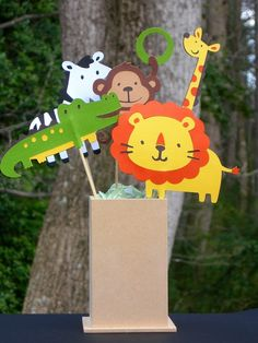 Zoo party zoo animals decos