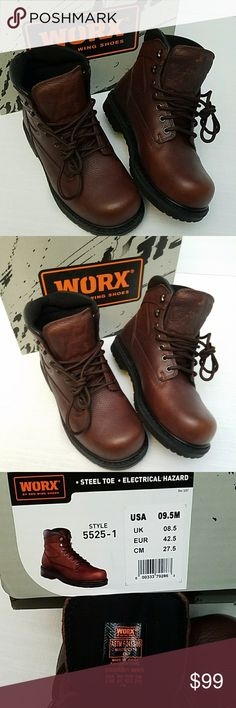 Steel Toe Worx by Red Wing Shoes Brand New Tried on only. Blow up pictures to see details. Worx By Red Wing Shoes Boots