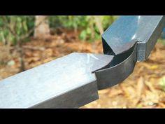 How to bend Profile pipe (box bar) to 90°||TEKNIK BENDING PROFILE 90°HOLLOW 4X8 - YouTube Metal Bending Tools, Metal Working Tools, Welded Metal Projects, Welding Projects, Diy Welding, Welding Table, Metal Work Bench, Metal Fabrication Tools, Diy Cnc Router