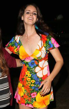 Lana Del Rey backstage at Coachella festival, California (April 20)