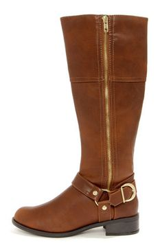 Tan & Gold Harness Riding Boots