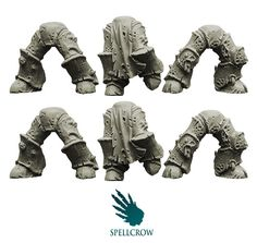 i like the 'hoofed' look of this armour. it has become a hallmark of the servants of Nurgle.