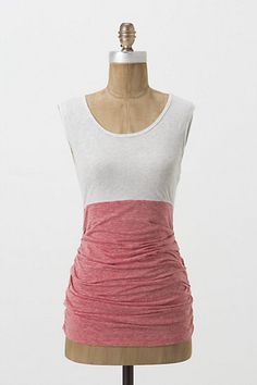 This is adorable and simple and classic all at once. Extremely wearable. Inverted Hues Tank #anthropologie. Also, comes in grey. <3