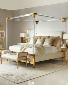 Shop Tuscany Canopy Bedroom Furniture at Horchow, where you'll find new lower shipping on hundreds of home furnishings and gifts. Transitional Living Rooms, Transitional House, Transitional Lighting, Modern Living, Bedroom Furniture, Bedroom Decor, Bedroom Sets, Canopy Bedroom, Pvc Canopy