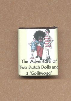 Dolls House Miniature Golliwog,Two Dutch Dolls Illustrated Book - Over 10,000 other miniature dollshouse items in stock! Visit www.thedollshousestore.co.uk