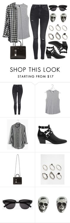 """Style #10208"" by vany-alvarado ❤ liked on Polyvore featuring Topshop, Madewell, Yves Saint Laurent, ASOS and King Baby Studio"