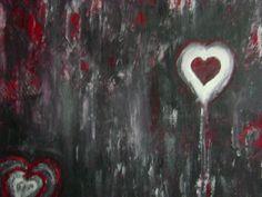 Telkens weer mijn ex. toegelaten en de pijn die hij me dan toch weer deed wilde ik niet meer toelaten, afsluiten en een zuiver hart krijgen Hart, Painting, Painting Art, Paintings, Painted Canvas, Drawings