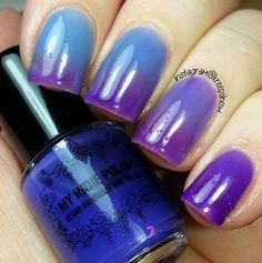 Thermal nail polish - Lavender rain - 7ml bottle purple to blue