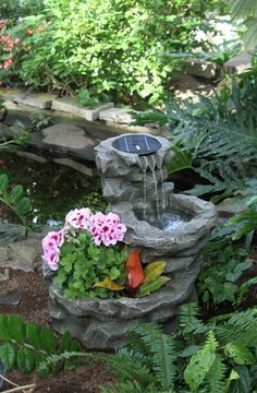 Garden ideas waterfall flowers