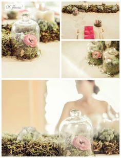 Tendencias: Decoración con campanas de cristal. Oh Fleurs!