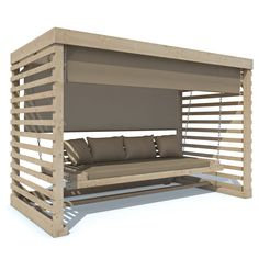 Hollywoodschaukel Tiffany Holz Gartenschaukel Schaukelbank Gartenmöbel 4-Sitzer