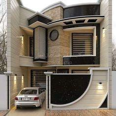 Stunning Modern Dream House Exterior Design Ideas – Page 17 – Afshin Decor Unique House Design, House Front Design, Minimalist House Design, Cool House Designs, Minimalist Home, Minimalist Interior, Bungalow House Design, Modern House Plans, Home Modern