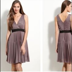 """Dress Adorable Max and Cleo Myna dress in Taupe Rose. The dress measures approximately 35 1/2"""" long and is made of 100% Polyester. Machine Washable  No TradesNo PayPal Max & Cleo Dresses"""