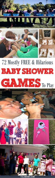 Looking for the best baby shower games - that people actually want to play? Here are 72 researched and vetted FUN baby shower games! There's a helpful filter to help you pick what's best for you, like outdoor baby shower games,free printable baby shower games, coed baby shower games, etc. Click to see more. Pin it! #babyshowergames #babyshowers