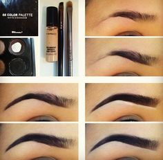 How to fill in your eyebrows. Good for dance.