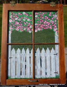 Hand Painted Window Panes, Sage Bundles, Mirrors & Memory Windows ...