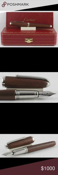 Cartier Limited Edition Pen Louis engraved Kotibe wood and Palladium finish transatlantique Fountain Pen ~*~*~*~*~*~*~*~*~*~*~*~*~*~*~*~*~*~*~*~*~*~*~*~*~*~* 1. Never been used ( got as a gift but not my style) 2. No damage and stain on it, (w/box) Cartier Other