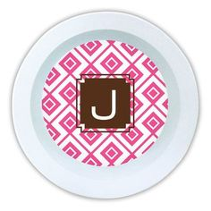 Dabney Lee Lucy Single Initial Melamine Serving Bowl Letter: Z