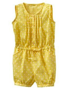 Pleated print romper | For the little one. Easy button.