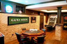 You can renovation basement room with make a media room, living room, wine cella…, – Home Office Design Layout Game Room Decor, Room Wall Decor, Media Room Decor, Game Room Bar, Room Art, Design Seeds, Boho Couch, Layout Design, Small Game Rooms