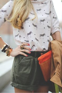 Zebra shirt. Perfect outfit for going out or on a date.