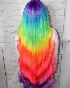 Neon Peach Hair Color (Clean Vibrant Peach) 😱😱😱 Amazing rainbow hair using in Pon