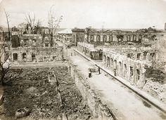 Rue St Denis after fire, Fort de France, Martinique, June 1890 French West Indies, St Denis, June 22, Photo Archive, Paris Skyline, Caribbean, Saints, Fire, Hui