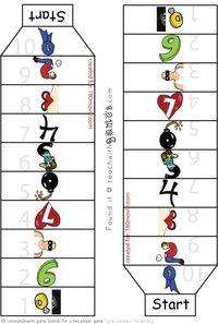 Ten Commandments Game board. Click link to print full game.