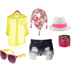 summer loving, created by spencemadison on Polyvore
