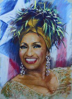 Celia Cruz Drawing - Celia Cruz by Viola El