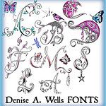 Alphabet Fonts by Denise A. Wells by ♥Denise A. Wells♥