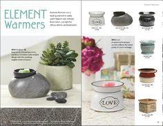 Element Warmers use a heating element to safely warm fragrant wax without illumination. These are perfect for offices, dorms and bedrooms!!! Get yours today! aliciamcrae.scentsy.us