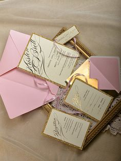 Custom listing 130 Pink and Gold Wedding by forlovepolkadots