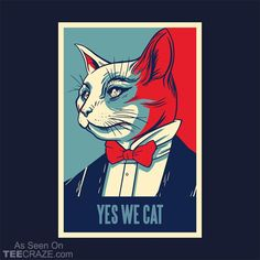 Yes We Cat T-Shirt From Purrform. #TeeCraze #Funny #Cat #Kitten #tshirt