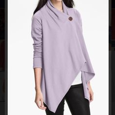 NWT Side button sweatshirt Drapey fleece-lined sweatshirt, new with tags. Super cozy and can be worn open or closed, dressed up or down.   Bundles✔️Offers✔️ Lowballs❌Trades❌ bobeau Sweaters Cardigans