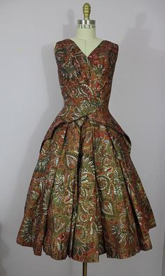 Alfred Shaheen Dress, silk, 1950s