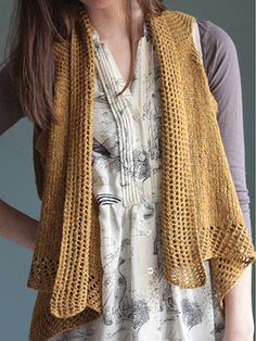 Knitting pattern from lace draped front Penny Vest and more vest knitting patterns