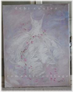 My new romantic Tutu and Roses Painting available at www.debicoules.com